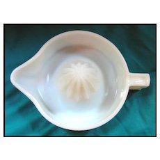 Vintage SUNKIST Milk Glass Juicer - Kitchenware Reamer