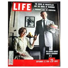 Sept. 22, 1958 Life Magazine HOLLYWOOD - George & Gracie Burns - Elizabeth Taylor