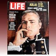 December 14, 1962 LIFE Magazine 'Marlon Brando' Cover -- President Kennedy / Vintage / History