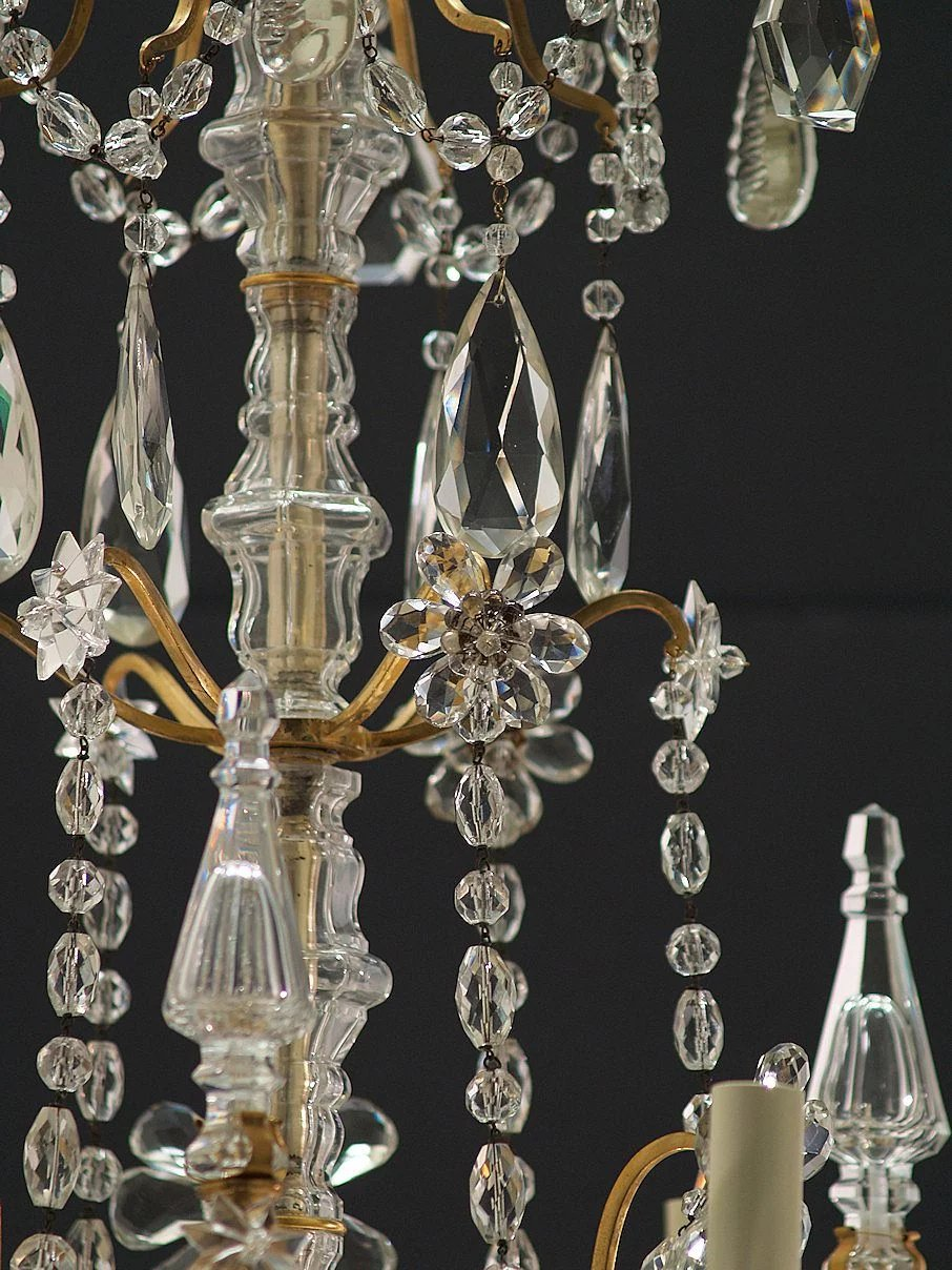 Antique 6 Light French Gilt Brass And Crystal Chandelier The Old Light Warehouse Ruby Lane