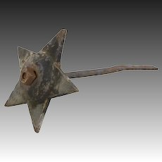 Antique Architectural Masonry Anchor Star - Americana