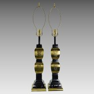 Vintage Pair Asian Style Table Lamps
