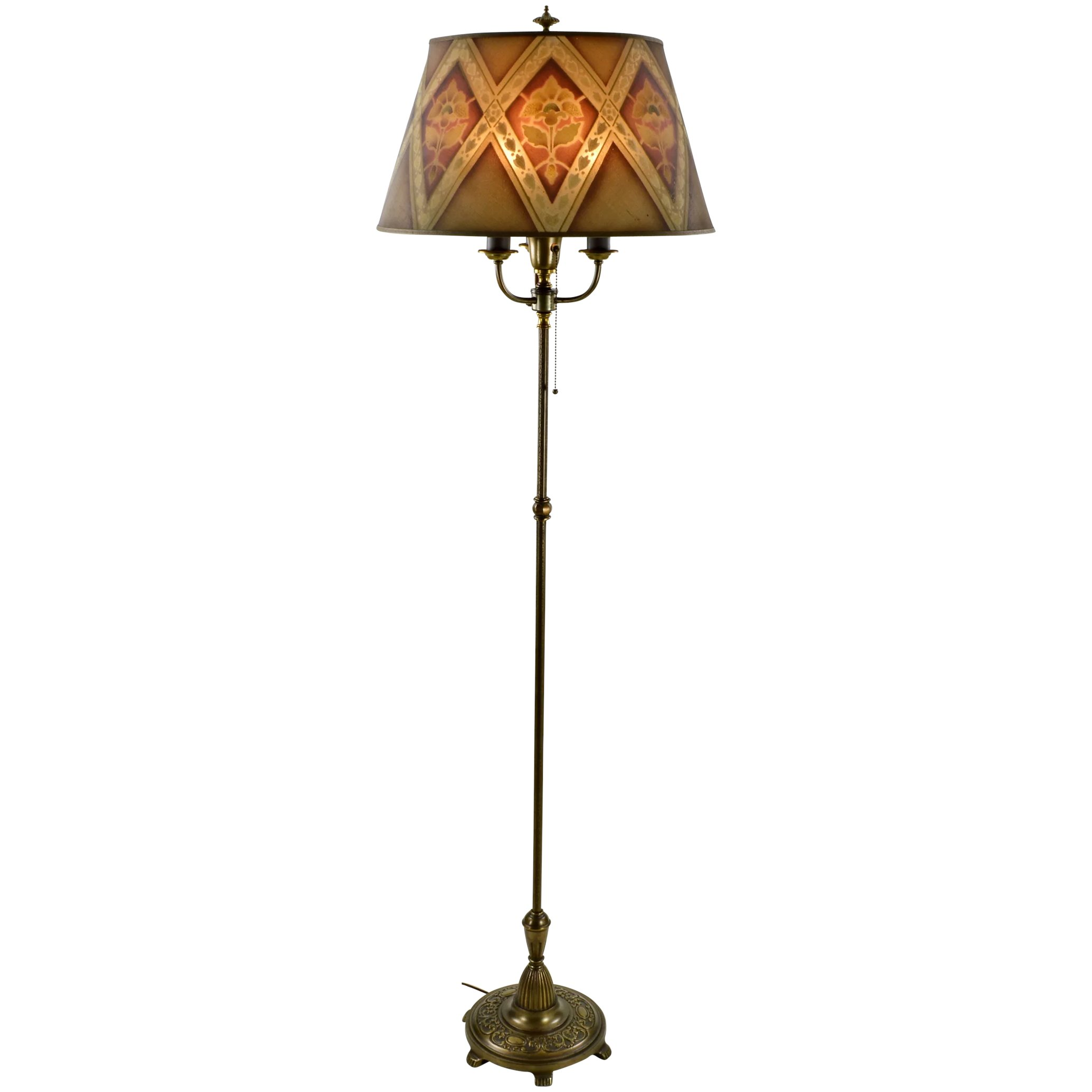 Vintage rembrandt floor lamp mesh shade reserved for d sold click to expand aloadofball Gallery
