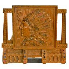 Vintage Native American Indian Bookrack Adjustable - Expandable Bookends