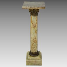 Antique 19th Century French Onyx Pedestal