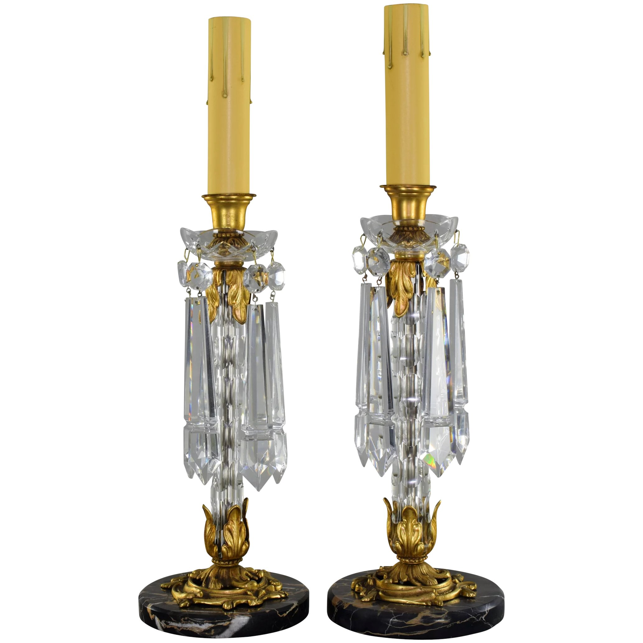 Cut Crystal Candlestick Lamps Ers