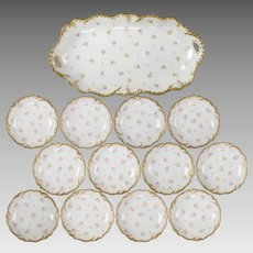 Antique Laviolette Limoges Berry Set