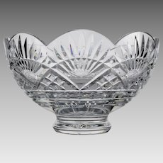 Waterford Cut Crystal Footed Liberty Bowl - America's Heritage Collection - Vintage