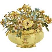 Jane Hutcheson - Gorham Fleurs des Siècles French Yellow Gilded Base with Dragon and Fleur-de-Lis