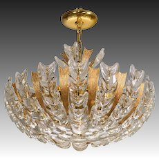 Mid-Century Palwa Basket Form German Chandelier