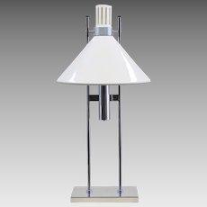 Mid-Century Modern Robert Sonneman Lamp - 1960s White and Chrome