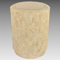 Vintage Maitland Smith Tessellated Marble Side Table or Stand