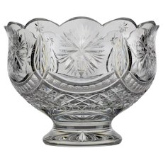 Waterford Cut Crystal Winter Garland Centerpiece Bowl - Large - Vintage
