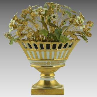 Jane Hutcheson - Gorham Fleurs des Siècles Reticulated Compote Flowers