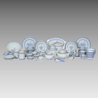 Vintage 64 Pieces Jingdezhen Chinese Porcelain China - Rice Grain