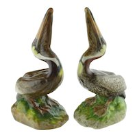 Pair Vintage The Townshends Ceramic Pelicans