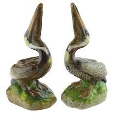 Pair Vintage The Townshends Ceramic Pelicans