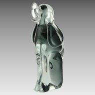 V Nason Murano Sommerso Art Glass Dog Figure