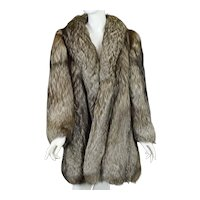 Vintage Silver Fox (with brown) Fur Coat