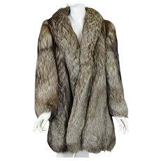 Vintage Silver Fox (with brown) Fur Coat