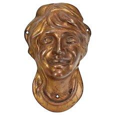 c.1919 Herschell Spillman Carousel No. 2 Lady Face / Mask - Cast Iron