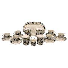 Villeroy & Boch Troubadour Coffee Serving Pieces - Cups / Saucers