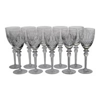 Set 10 Rogaska Queen Tall Water Goblets / Glasses