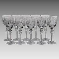 Set 10 Rogaska Queen Tall Water Goblets / Glasses