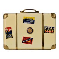 Vintage Durocharm NYC Suitcase Compact - PA State College