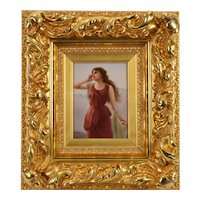 Antique 19th Century Hutschenreuther Porcelain Plaque - 'Echo' Signed Wagner after Edouard Bisson