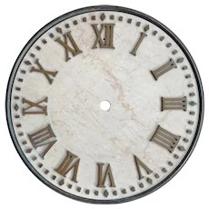 Vintage Marble & Bronze Architectural Wall Clock Dial Face 16""