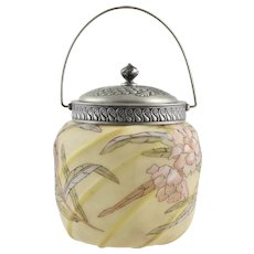 Antique Mt Washington / Crown Milano Sweet Meat - Sweetmeat Jar