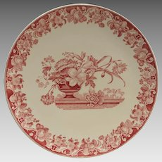 Vintage Royal Doulton Pomeroy Red Chop Plate - 15 inch