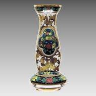 "Julius Muhlhaus 18"" Vase Enameled - Rare Size"