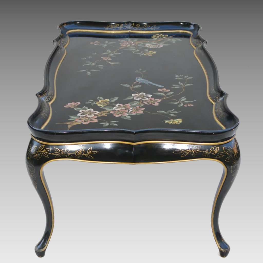 Mid Century Coffee Table Black: Mid-Century Black Lacquer Asian Coffee Table : The Old