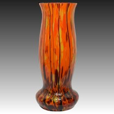 Vintage Czech Art Deco Spatter Vase - EOD