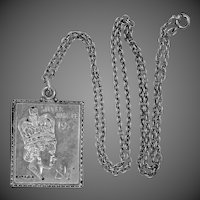 Sterling Silver Queen Elizabeth Jubilee Ingot Necklace 1977