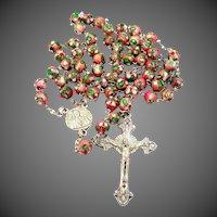 Nice Cloisonne Pastel Enamel Catholic Rosary
