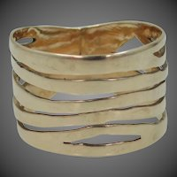 "$295 + Free Shipping - 14k Solid Gold 1/2"" Wide Stacking or Cigar Band Ring"