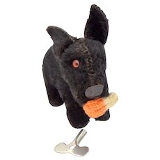 Vintage Wind Up Scotty Dog Scottish Terrier Toy