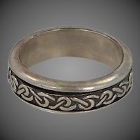 Man's Size 11 3/4 Celtic Knot Solid Sterling Silver Ring