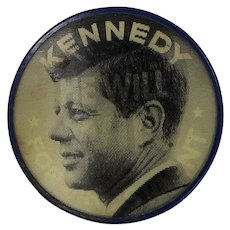 1960's Kennedy Flicker / Flasher Political Button Pictorial Productions