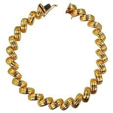 ITAOR Sterling Vermeil Diamond Cut Bracelet