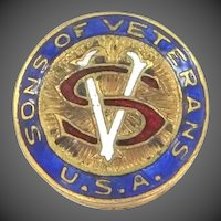 Vintage Enamel Sons of Veterans U.S.A. Pin