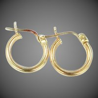Small 10k Gold Hoop Earrings