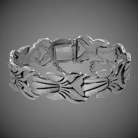 Heavy Los Ballesteros Solid Sterling Silver Mexico Bracelet