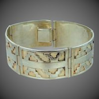 Signed EDP 925 Taxco Gro Hecho en Mexico Sterling Silver Shadowbox Bracelet