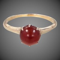 Victorian 14k Gold Carnelian Ring