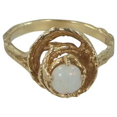 14k Gold & Opal Nugget Style Ring