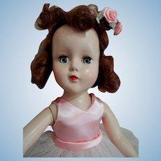 "R & B Arranbee 14"" High Hard Plastic 1950's Ballerina Doll"
